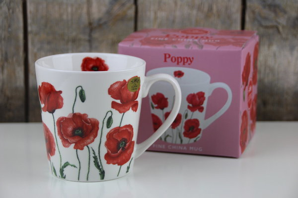 The Leonardo Collection - Kaffee Becher / Tasse - Poppy - Mohnblumen