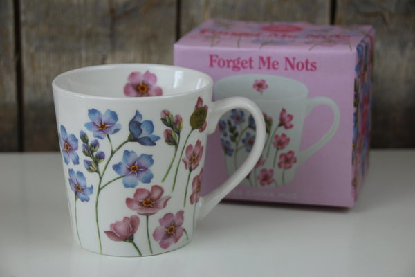 The Leonardo Collection - Kaffee Becher / Tasse - Vergissmeinnicht - Blumen