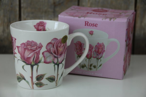 The Leonardo Collection - Kaffee Becher / Tasse - Rosen / Rose - Blumen