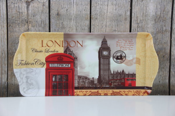 The Leonardo Collection - Tablett - London - 39 x 18 cm - Melamin