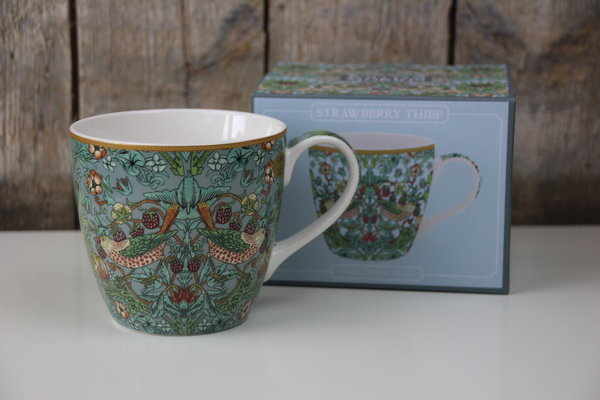 The Leonardo Collection - Frühstückstasse / Cappuccino Tasse - William Morris - Strawberry Thief