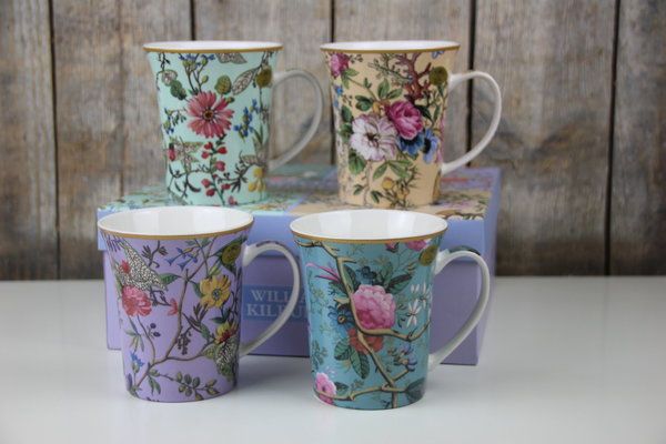The Leonardo Collection - 4er Set Tassen - William Kilburn - Floral / Blumen